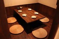 和の空間でのんびり寛いでお食事を