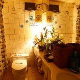 店内・外観だけでなく、女性に嬉しい「トイレ」にもこだわりを。