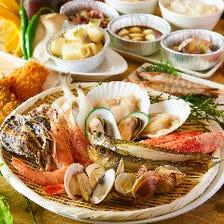 赤海老・牡蠣・蛤など贅沢浜焼き!