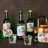 チャミスル・JINROを種類豊富にご用意!浜焼き・韓国料理に合う