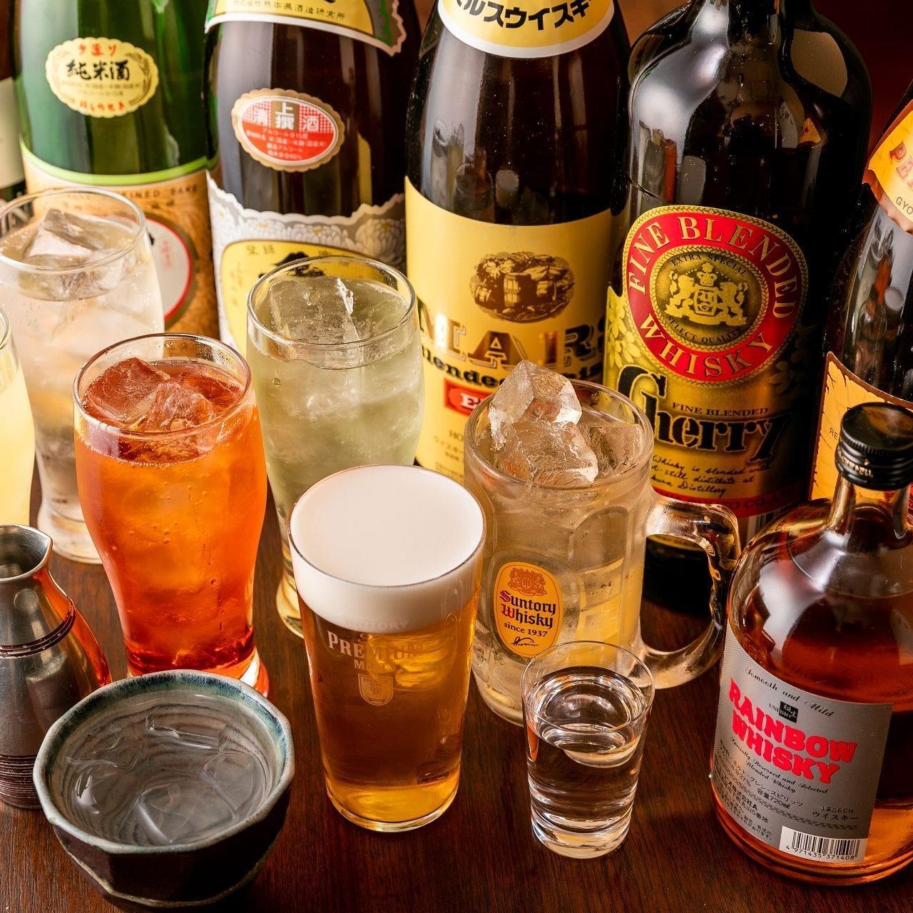 生樽の日本酒も楽しめる充実の飲み放題プランはコース限定