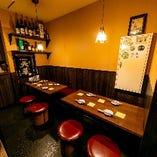 同僚との飲み会にぴったりなテーブル席(3~5名様×2卓)