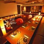 《大広間を独占》最大70名様まで!北新地の優雅な居酒屋で、大人数宴会が楽しめます