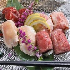 肉寿司盛合せ 5貫