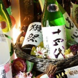 【日本酒】店主が全国から厳選した地酒が充実・ブランド酒も有