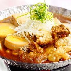 料理好きの主婦が創った京豆富の旨煮 和牛ホルモン肉味噌と煮卵を添えて