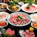 定番メニューから上焼肉まで!ご予算に合わせてお選びいただけるアジヨシの宴会コース。