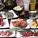牛・鶏・豚のお肉や魚介、ご飯ものなど、豊富な品揃えのプラン!