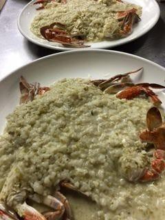 渡り蟹と岩海苔のクリームリゾット
