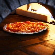 石窯で焼くぱりぱりミラノ風ピッツァ