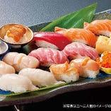 旬の寿司盛り