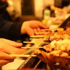 朝挽き鶏 炭火串焼き 牡丹