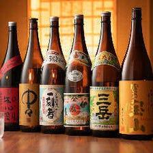 常時20種類以上の日本酒をご用意!