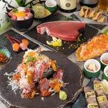 当店看板メニューのマグロを堪能!飲み放付コースは3000円〜!