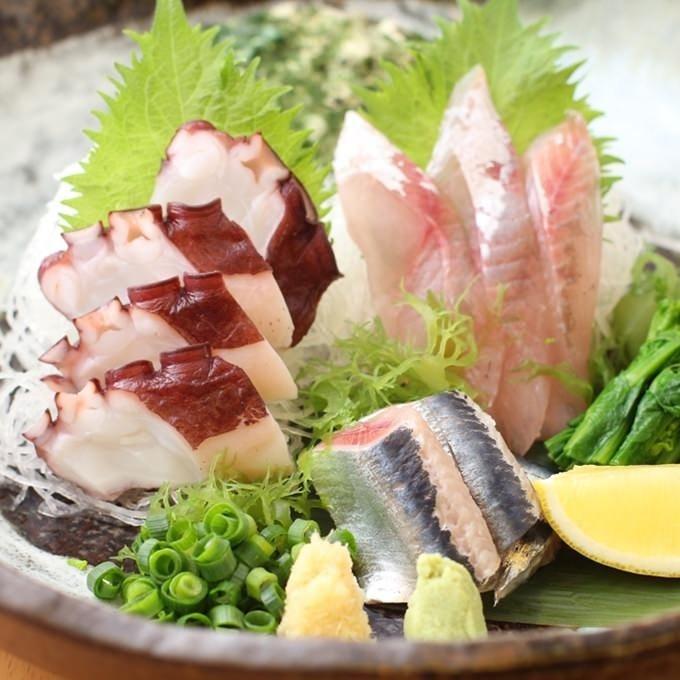【一番人気コース】,,刺盛,串天,本格握り寿司等7品2H飲み放題5000円
