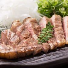 四万十ポークの藁焼きステーキ