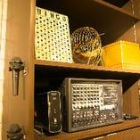 マイク&BGMなど音響設備