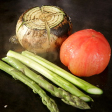 近江野菜の鉄板焼♪