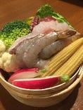 魚介とホウレン草の蒸し鍋
