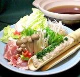 地鶏キリタンポ鍋