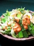 アスパラと半熟玉子のサラダ
