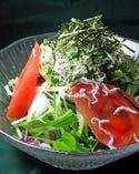 京風ちりめんじゃこと水菜の和風サラダ