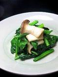 青菜とエリンギのガ-リック炒め