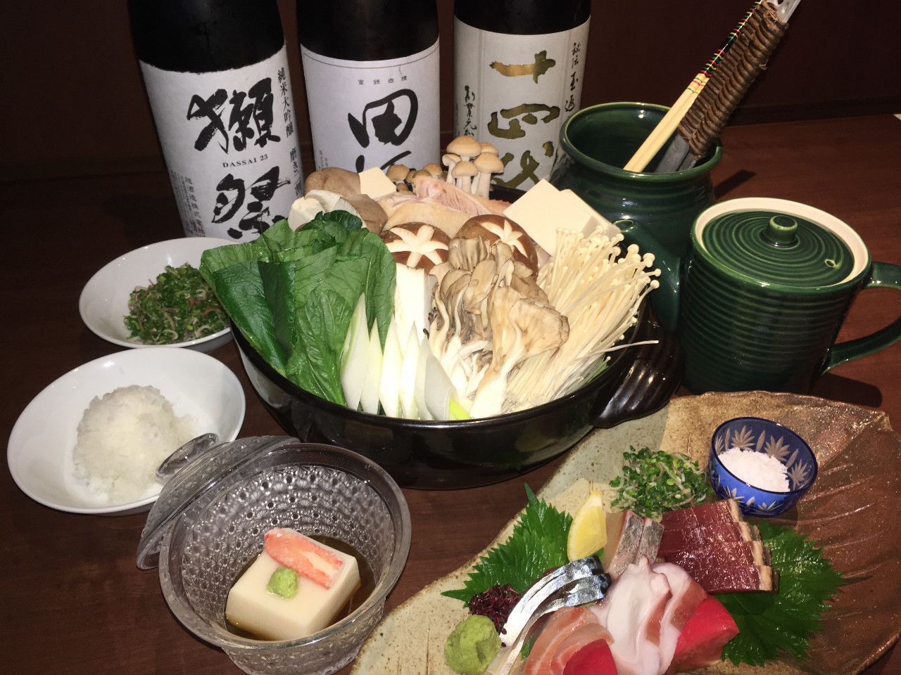 お食事3000円コース一例 質・量共に十分です。