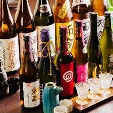 こだわりの日本酒・希少酒あります!