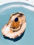 焼き雲丹牡蠣のキャビアのせ