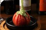 とろけるバジルチーズの焼きトマト