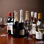 鉄板焼に合うワインを厳選!約40種を取り揃えております!