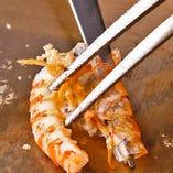 活車海老・帆立貝柱・旬の魚介の鉄板焼で楽しめる『舞 -Mai- コース』