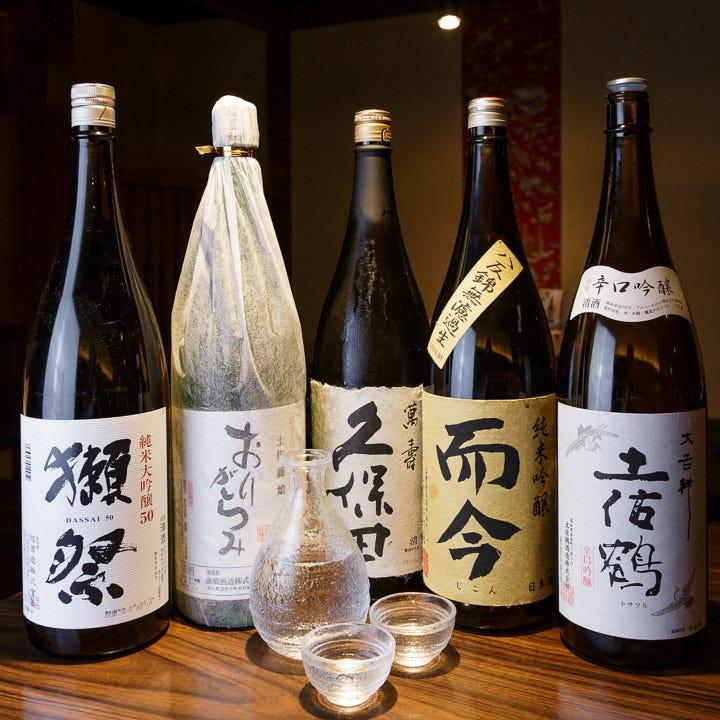高知産も豊富に。全国から集めた美酒