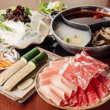 【2H食べ放題】ラム肉・牛ロース肉等4種のお肉を堪能!お手軽しゃぶしゃぶ食べ放題コース 7品 2,980円