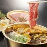 小尾羊が独自開発した薬膳スープでしゃぶしゃぶをお楽しみください!