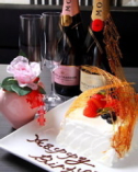 記念日のお客様へ ご予約でケーキご用意致します!!
