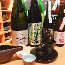 日々入れ替わる全国各地の日本酒