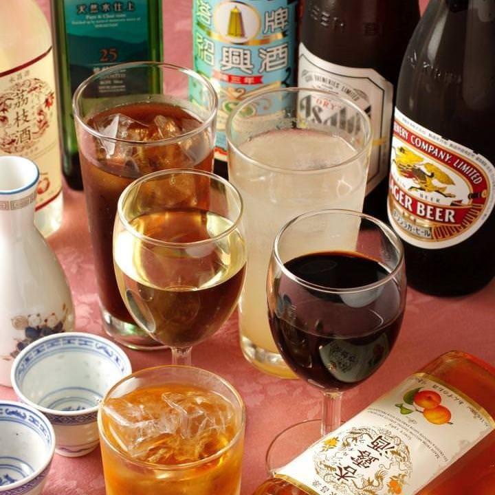 紹興酒の他、ワインや焼酎、日本酒も取り揃えております。
