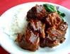 牛バラ肉の煮込み御飯
