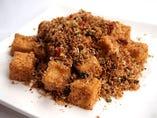 揚げ豆腐の香港漁師風スパイス炒め