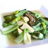 本日の青菜料理(炒め/蒸しなど)