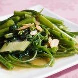 空心菜の炒め ~選べる三種類の味付け~ ※季節限定メニュー
