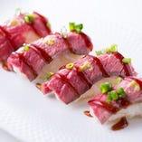 自慢のお肉をお寿司にしてみました!