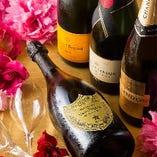 お祝いには欠かせない「シャンパン」も各種★スパークリングも♪
