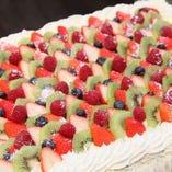 結婚式2次会などお祝いにデコレーションケーキをどうぞ