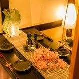 大宮での接待やデートなど少人数様でも個室空間にてご対応可能。
