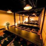 大型宴会も大歓迎。最大150名様まで広々個室でご対応可能。