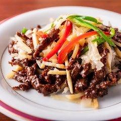 牛肉と季節野菜の炒め