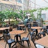■人気のテラス席 晴れた日にはのんびりランチ&カフェタイムをお過ごし下さい♪